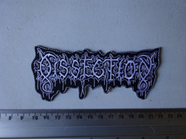 DISSECTION - WHITE/BLACK NAME LOGO