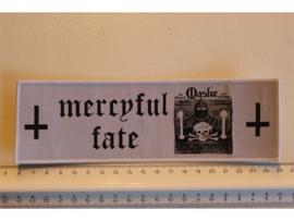 MERCYFUL FATE - MASKE ( WHITE BORDER ) WOVEN STRIPE