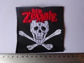 ROB ZOMBIE - RED LOGO + WHITE SKULL