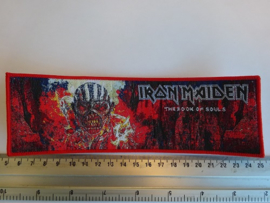 IRON MAIDEN - THE BOOK OF SOULS ( RED BORDER ) WOVEN STRIPE