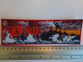DIO - HOLY DIVER ( RED BORDER ) WOVEN STRIPE