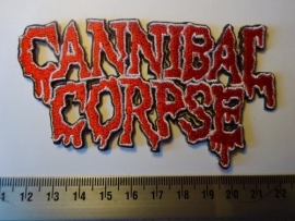 CANNIBAL CORPSE - RED/WHITE LOGO ( SHAPED )