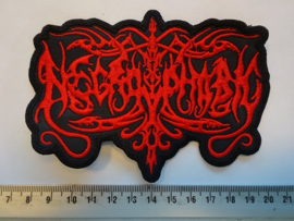 NECROPHOBIC - RED SHAPED LOGO