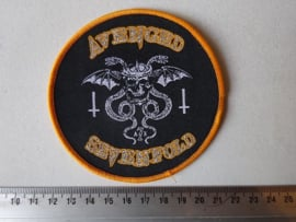 AVENGED SEVENFOLD - CIRCLED GOLD ( WOVEN )