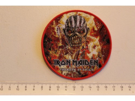 IRON MAIDEN - THE BOOK OF SOULS ( RED BORDER ) WOVEN