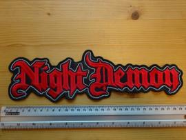 NIGHT DEMON - RED/WHITE NAME LOGO