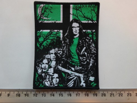 TYPE O NEGATIVE - PETER WITH AXE ( BLACK BORDER ) WOVEN