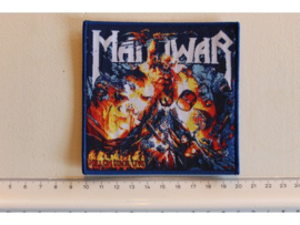 MANOWAR - HELL ON STAGE LIVE ( BLUE BORDER ) WOVEN