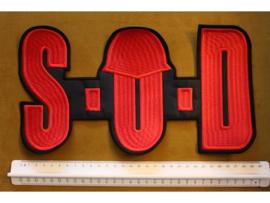 S.O.D. - RED NAME LOGO + HELMET