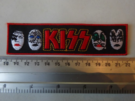 KISS - RED NAME LOGO + FACES
