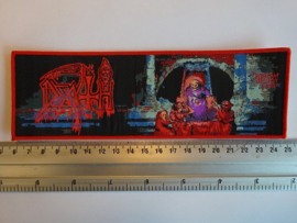 DEATH - SCREAM BLOODY GORE ( RED BORDER ) WOVEN