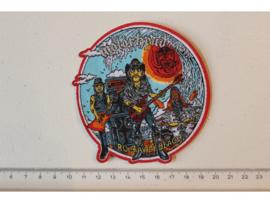 MOTORHEAD - ROCKAWAY BEACH ( RED BORDER ) WOVEN