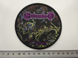 ENTOMBED - CRAWL (  PURPLE NAME, BLACK BORDER ) WOVEN