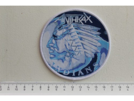 ANTHRAX - INDIANS ( WHITE BORDER ) WOVEN
