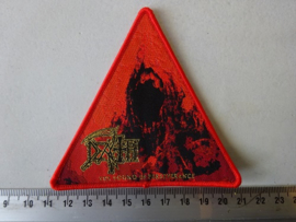 DEATH - THE SOUND OF PERSEVERANCE ( WOVEN, RED BORDER  ) NUMBERED
