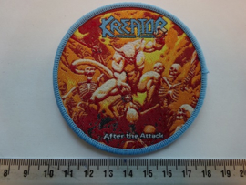 KREATOR - AFTER THE ATTACK ( BLUE BORDER ) WOVEN