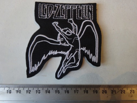 LED ZEPPELIN - BLACK/WHITE LOGO + SWAN