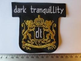 DARK TRANQUILITY - WHITE NAME + GOLD LOGO