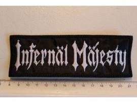 INFERNAL MAJESTY - WHITE NAME LOGO