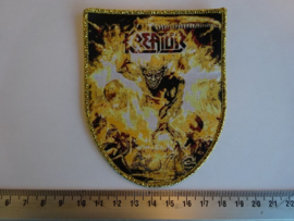 KREATOR - PHANTOM ANTICHRIST ( GOLD BORDER ) WOVEN