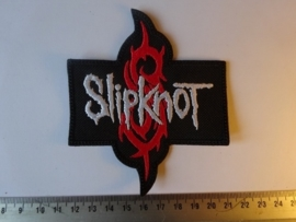 SLIPKNOT - WHITE NAME + RED S LOGO