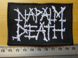 NAPALM DEATH - WHITE LOGO ( DIFFERENT BORDER )
