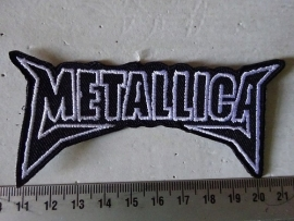 METALLICA - BLACK/WHITE NAME LOGO
