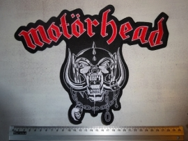 MOTORHEAD - RED/WHITE LOGO + SNAGGLETOOTH
