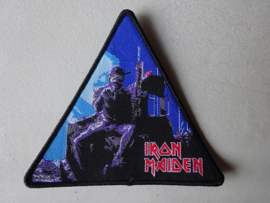 IRON MAIDEN - 2 MINUTES TO MIDNIGHT TRIANGLE BLACK BORDER NUMBERED