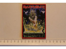 IRON MAIDEN - NO PRAYER FOR THE DYING ( RED BORDER ) WOVEN