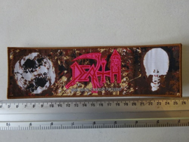 DEATH - INDIVIDUAL THOUGHT PATTERNS ( WOVEN STRIP, BROWN BORDER )