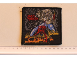 IRON MAIDEN - THE NUMBER OF THE BEAST ( ORIGNAL ) WOVEN