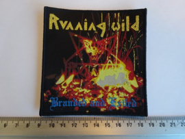 RUNNING WILD - BRANDED AND EXILED ( BLACK BORDER ) WOVEN