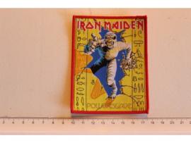 IRON MAIDEN - POWERSLAVE ( RED BORDER ) WOVEN