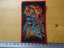 NUCLEAR ASSAULT - EXCITER (RED BORDER ) WOVEN