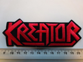 KREATOR - RED NAME LOGO