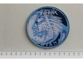 ANTHRAX - INDIANS ( BLUE BORDER ) WOVEN