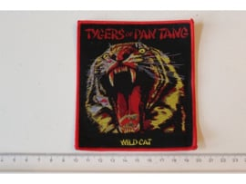 TYGERS OF PAN TANG - WILDCAT ( RED BORDER ) WOVEN