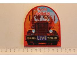 IRON MAIDEN - REAL LIVE TOUR ( ORANGE BORDER ) WOVEN