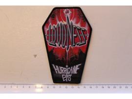 LOUDNESS -HURRICANE EYES ( BLACK BORDER ) WOVEN