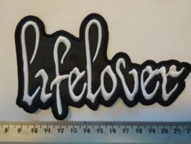 LIFELOVER - WHITE NAME LOGO ( SHAPED )