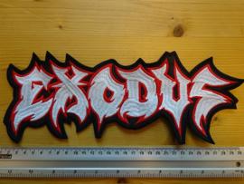 EXODUS - WHITE/RED NAME LOGO