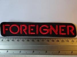 FOREIGNER - RED LOGO