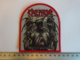 KREATOR - VIOLENCE UNLEASHED ( RED BORDER ) WOVEN