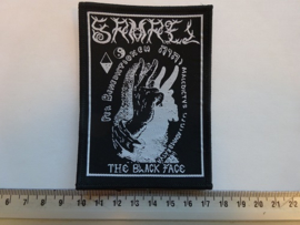 SAMAEL - THE BLACK FACE ( BLACK BORDER ) WOVEN