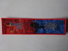 MERCYFULL FATE/KING DIAMOND - STRIPE (WOVEN) RED BORDER