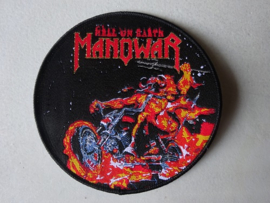 MANOWAR - HELL ON EARTH CIRCLED BLACK (WOVEN) NUMBERED