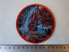 HELLOWEEN - BETTER THAN RAW ( ORANGE BORDER ) WOVEN