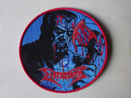 DISMEMBER - SKIN HER ALIVE  ( RED BORDER ) WOVEN