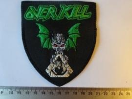OVERKILL - BAT LOGO ( BLACK BORDER )